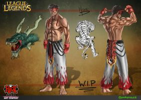 Lee sin Skin - Master Fight by Mike-Tortuga