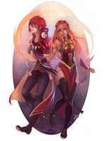 Fire Symphony - Commission by clover-teapot