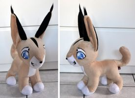 Christmas gift Neko the caracal plush by Sethaa