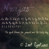 FONT: Nuajas by Gpotious