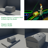 Kingdom Hearts 2 High Poly Closed Treasure Chest by Rubber-Rainbows