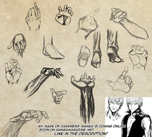 Hands and Feet Practice [Usable as References] by Dex91