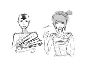 Aang and Some Girl by xxhopelessromantic