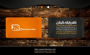 Zafar rayaneh business card by arsalan-design