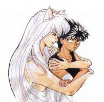 YYH: Youko and Hiei by youkobutt