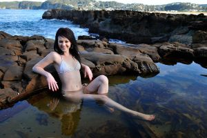 Tara - bikini and rock pool 1 by wildplaces