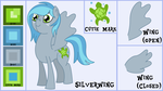 Silverwing Reference and Bio by OddishPonyArt