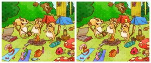 Spot the Difference: Chipmunks Go Camping by a4anner