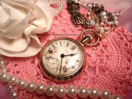 Time Travel And Tea Cakes Pocket Watch Necklace by GlimmeringStarshine