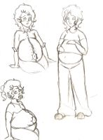 Gabriel Sketches by SweetMoonSuite