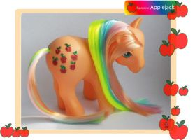 Custom My little Pony Rainbow Applejack by SalemSparkler