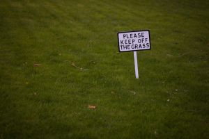 PLEASE KEEP OFF THE GRASS by inkeen