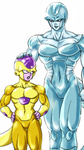 Golden Frieza and Metal Cooler by frieza-love