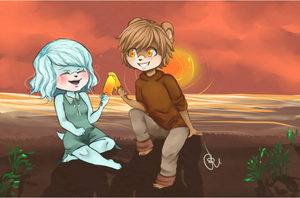 :COM: Flora and Samuel by chibi-roll