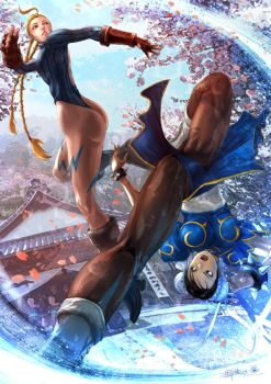 Cammy and Chun-Li by SantaFung