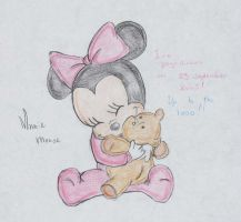 Minnie mouse baby by Ineoma