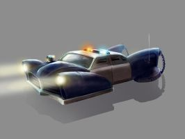 Police Car Concept Art by xvortexbladex