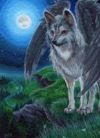 ACEO Somewhere Out There by DawnUnicorn