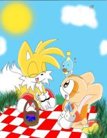 Tails Cream and Cheese Picnic by AdiPrower94