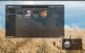 iTunes X: Hud Style Mockup by Allucard9