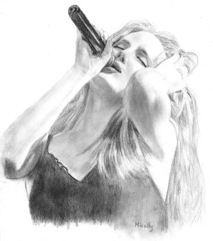 Simone, Singer of EPICA by Mirally