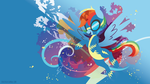 Wonderbolt Dash Silhouette Wall by SambaNeko