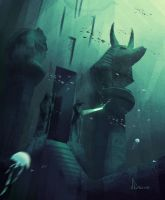 Speed Paint 9- Temple of Anubis by AnthonyDevine
