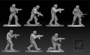 Light soldier kit for Sentinel Games by zelldweller