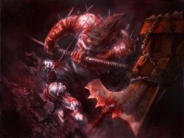 Kratos vs Executioner by Wildforge