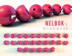 3D Font: Globes v2.0 by dye-the-eye