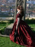 red gothic gown by Abigial709b