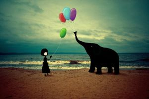 The Girl And The Elephant by Eredel