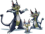 Troubleclef, Fortissimeow, and Catzenjammer by LiteracyScaresMe