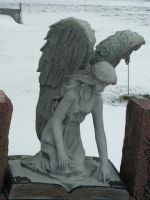 Angel Book Statue-1 by Rubyfire14-Stock