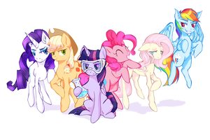 small horse friends by SawksSomberCircus