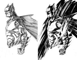 Batman study by Ferigato