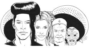 The cast of LEXX by corvus1970