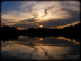 Lake Lakota Sunset Reflections by tjsviews
