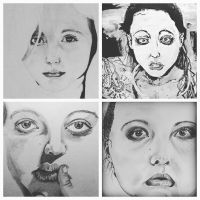 Four self-portraits in four years  by chainbreaks