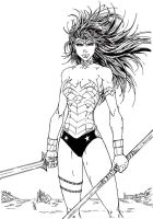 Wonder Woman (V Ken Marion Inks) by SupermanOfToday