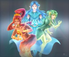 Three Goddesses by VegaColors