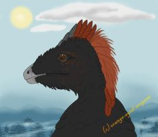 Anchiornis commission by orange-eyed-serpent