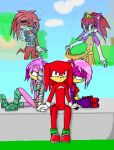 Knuckles love triangle by AlexSammyHedgehog