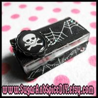 Deadly Skulls and Spider Webs Box by SugarAndSpiceDIY