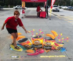 Promotion for Pringles Tortilla Chip by AmazingStreetPaint