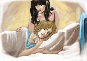 Faberry at the hospital by Faberry-shipper