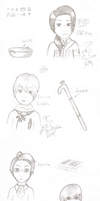 Realistic(ish) Hetalia Sketches by NadjaGreen