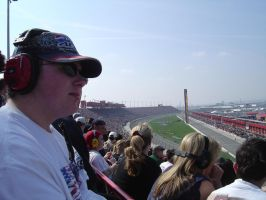 Me at the track, stands, feb05 by Fordartist