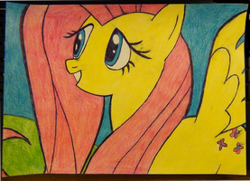 Mega not-high contrast of Fluttershy by Nammi-namm