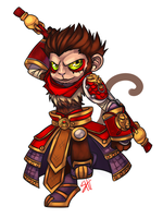 [Commission] Wukong by RavenNoodle